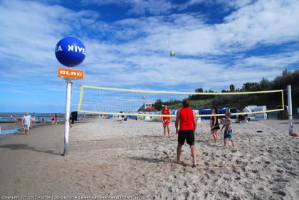 Volleyballfeld am Ostseestrand in Zempin