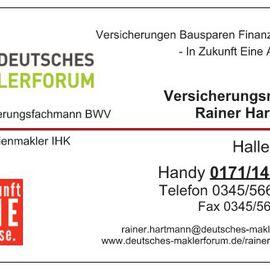 Bild zu Versicherungsmakler Rainer Hartmann Deutsches Maklerforum Halle bereitgestellt von Das Örtliche
