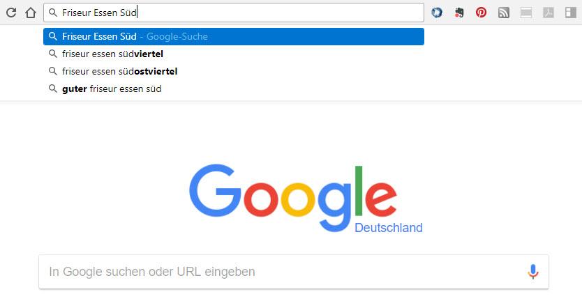 SEO-Tipps: Screenshot Google Suggest Anzeige