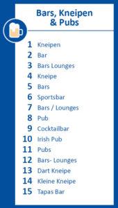 Infografik Bars, Kneipen & Pubs