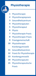Infografik Physiotherapie